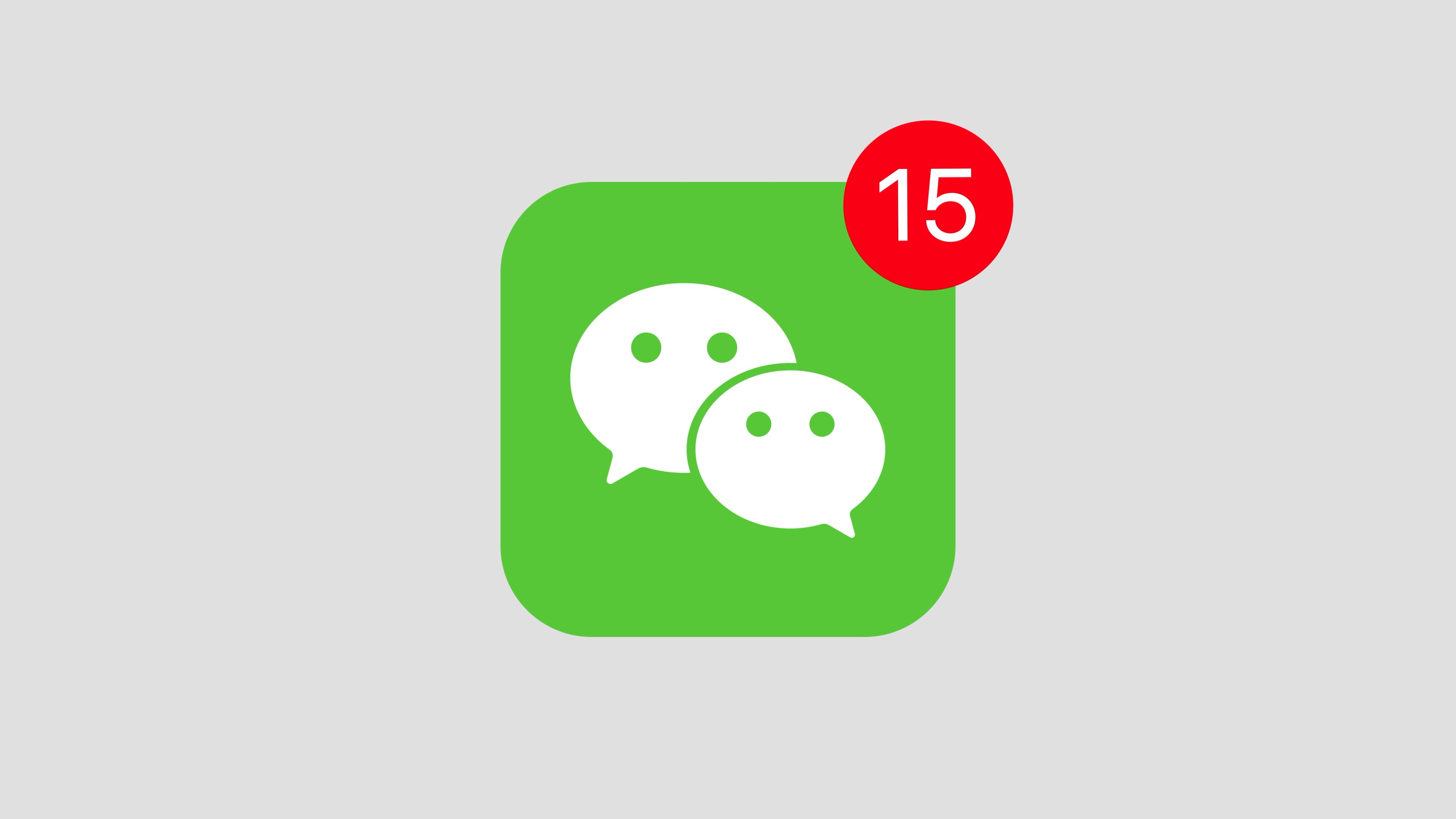 Stock video animation of WeChat social media website logo app icon popup  notification message – Africa Rising - Stock video for Africa